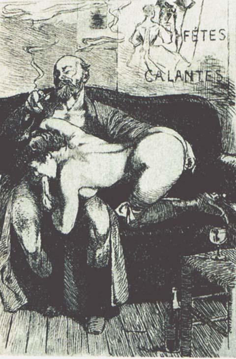 a bacco Dessins de Martin van Maële. Illustration d'un poème de Paul Verlaine 1907